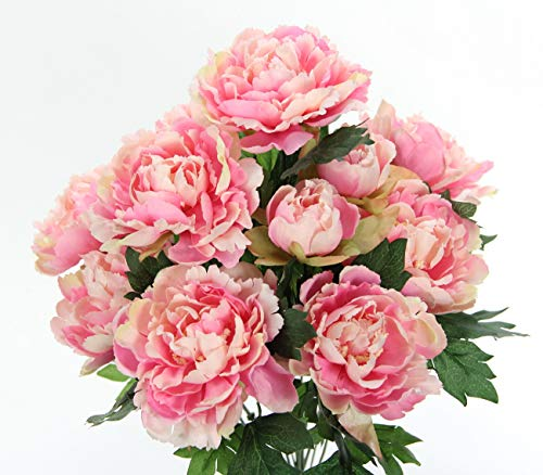 Admired By Nature Artificial Spring Mixed Flower 11 stem Peony Bush , ABN1B013-PK