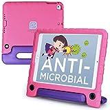 Pure Sense Hülles Antimikrobielle & kindersichere Hülle für iPad Pro 9.7, iPad Air 2 (Ständer, Handgriff, Schultergurt) A1673 A1674 Apple iPad Mini 4 Apple iPad Pro 9.7 / iPad Air 2 Rosa