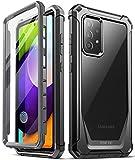 Poetic Guardian Series Schutzhülle für Samsung Galaxy A52 4G und 5G, Ganzkörper-Hybrid-Hülle, stoßfest, transparent, mit integriertem Bildschirmschutz, schwarz/transparent