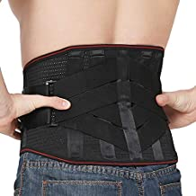 Lower Back Braces for Back Pain Relief - Compression Belt for Men & Women - Lumbar Support Waist Backbrace for Herniated Disc, Sciatica, Scoliosis - Breathable Mesh Design, Adjustable Straps(M, Black)