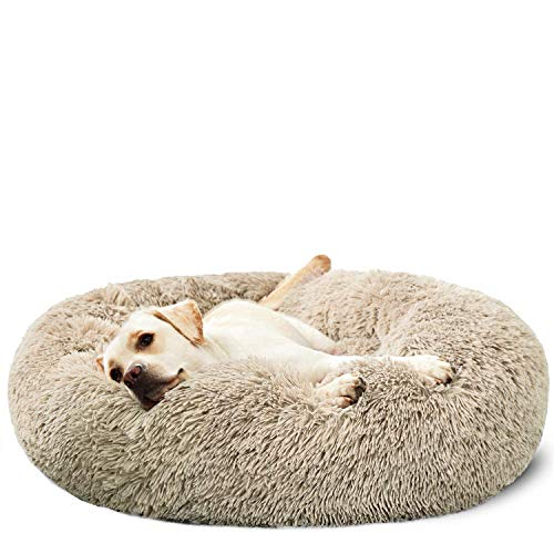 HACHIKITTY Dog Beds Calming Donut Cuddler, Puppy Dog Beds Large Dogs, Indoor Dog Calming Beds XLarge,36''