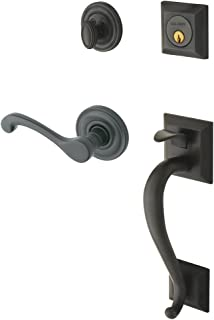 Baldwin 85320.102.RENT Madison Sectional Trim Right Hand Handleset with Classic Lever, Oil Rubbed Bronze