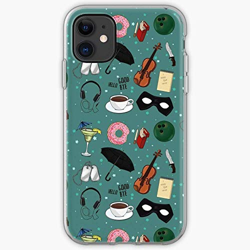 TIINTEXBA Compatible with iPhone 12/12 PRO Max 12 Mini 11 PRO Max SE X XS Max XR 8 7 6 6s Plus Case Show Two Umbrella Academy TV The Three Number One Pink Five Phone Cases Cover