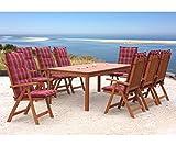 GRASEKAMP Qualität seit 1972 Gartentisch 200x100cm Natur Esstisch Holztisch Gartenmöbel Eukalyptus - 4