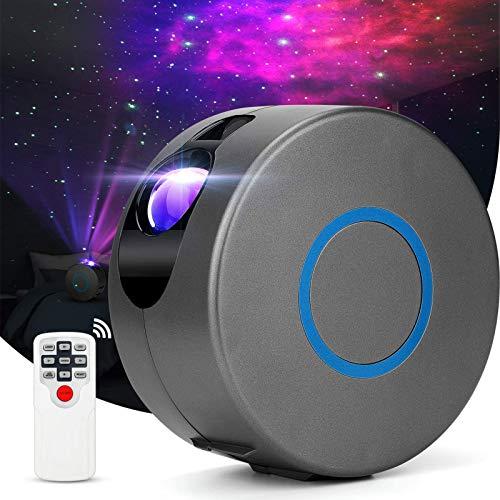 Nigecue LED Sternenhimmel Projektor mit Fernbedienung, 15 Modi Nachtlicht Sterne Projektor mit Nebelwolken, LED Projektorlampe für Baby Kinder Schlafzimmer Heimkino Party Haus Dekoration