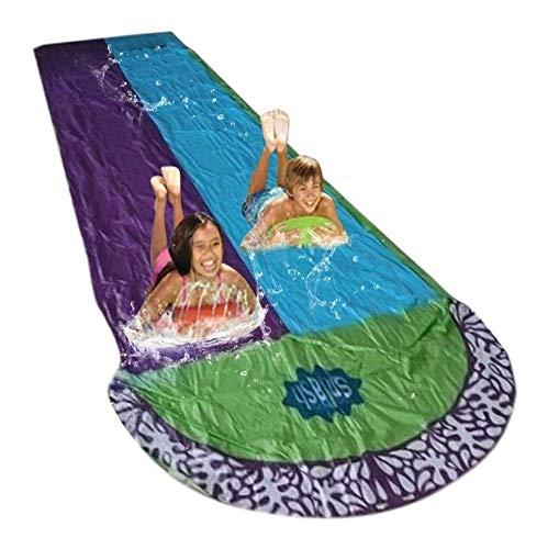 Slip tobogán de Agua y tobogán Inflable Piscina de los niños Kid Diapositivas for Adultos de Diapositivas for Adultos-niños del jardín del Agua Racing Doble Agua Slide Aerosol
