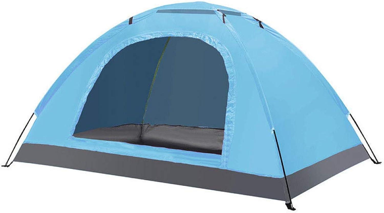 ZHJLOP Zelt Ultraleichtes Touristenzelt Wasserdicht Winddicht UV Schutz Zelt für 2-3 Personen Familie Camping Angeln Strandurlaub Party
