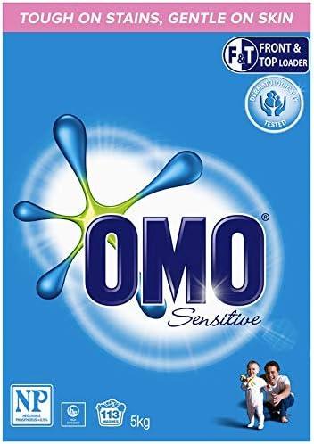 Omo Sensitive Laundry Detergent Washing Powder Front & Top Loader 5kg
