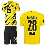 PUMA Borussia Dortmund BVB Heimset 2020 2021 Home Kit Sponsor BL Logo Herren Axel Witsel 28 Gr XXXL