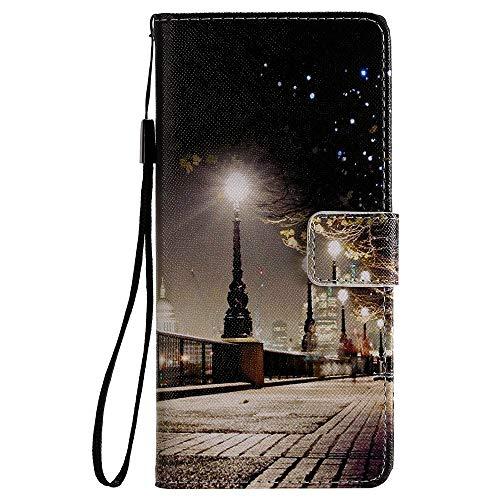 Sunrive Hülle Für Lenovo Moto G4 Play, Magnetisch Schaltfläche Ledertasche Schutzhülle Etui Leder Hülle Cover Handyhülle Tasche Schalen Lederhülle MEHRWEG(W18 Muster)