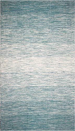 FAB HAB Stockholm - Tapis Sarcelle (Bleu-Vert) en Polyéthylène recyclé (Fibres Polyester) pour intérieur/extérieur (150 cm x 240 cm)