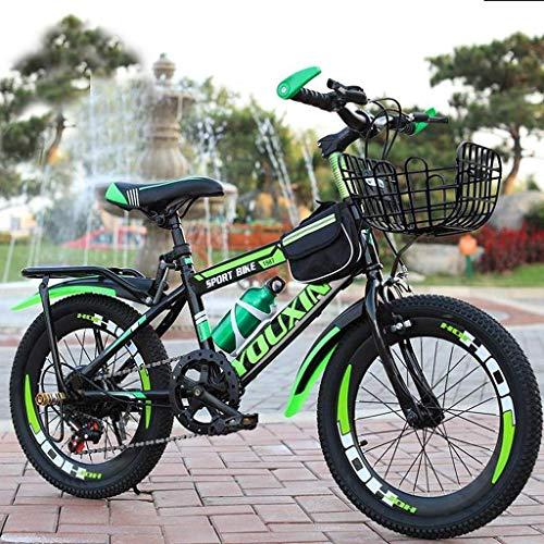 YLJYJ Langlebige Rennräder, faltbares Mountainbike für Kinder, kompaktes faltbares Fahrrad, stoßdämpfendes Citybike, Rahmen aus Kohlenstoffstahl (Farbe: Rot, Größe: 20