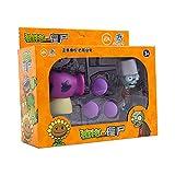 Plantas genuinas vs Zombie 7pcs Box Set Plant Cactus PEASHOOTER FOFFSHIPHROOM SOFT SOBLE ANIME Figura Figura Modelo Muñecas Juguetes para niños