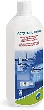 Acquabrevetti liquido ACQUASIL 20/40® in flacone da lt 1 (confezione da 3 flaconi) per pompe dosatrici MiniDos e BravaDos