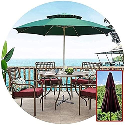 BJYG Sombrillas de jardín 8 Varillas de Acero Sombrillas Anti-Ultravioleta Jardines Exteriores Balcones y terrazas (Color: Verde)