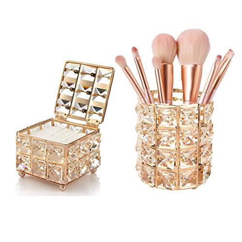 2 Piezas,Organizador de Pinceles de Maquillaje,Caja Acrílica Estante de Maquillajes ,Organizador de Soporte de Brochas,Organizador Brochas Maquillaje.