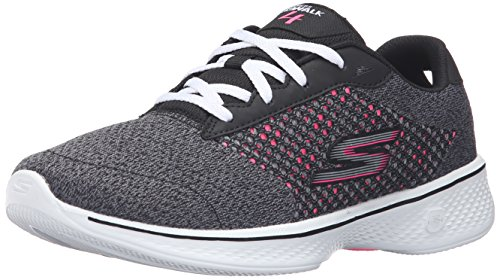 Skechers Performance Women's Go Walk 4 Exceed Walking Shoe, Black/Hot Pink, 10 M US