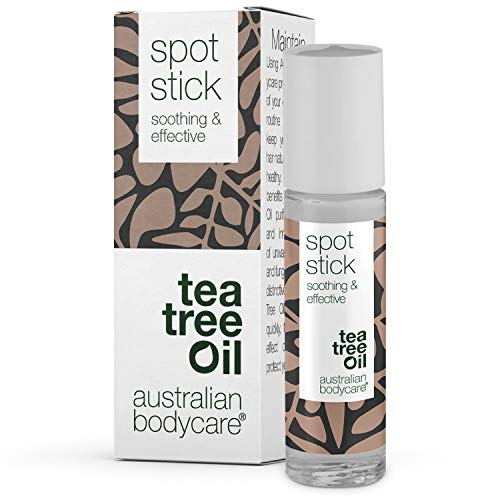 Australian Bodycare Spot Stick | Pickelstift mit Teebaumöl | Tea Tree Oil Anti Pickel Stift | Auch zur Pflege bei Akne | 100{f44b5f62a056577f99fd0863272b55e63f762292092fe98c27fbeb342e477b28} Vegan | zum Pickel loswerden & nach ausdrücken | 9ml