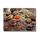 Wxueh Moderno Tema De Cocina Lienzo Pintura Pan Leche Carteles E Impresiones Cuadro De Arte De Pared Para Cocina Decoración Del Hogar-60X90Cmx1Pcs-Sin Marco