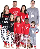 SleepytimePJs Christmas Family Matching Mix and Match Red Holiday Pajama PJ Sets(STM-3037-M-2135-2X)