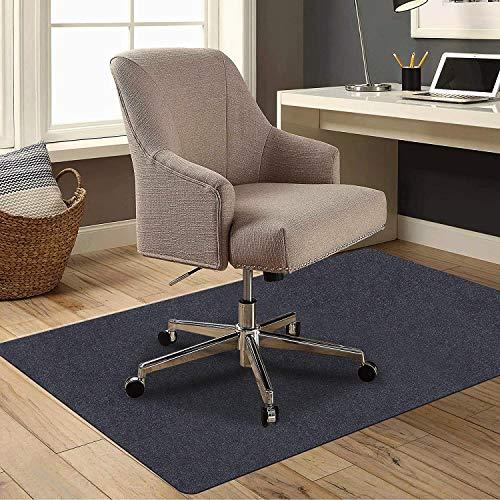 チェアマット カーペット 床保護マット ゲーミングチェアマット ずれない デスクマット 傷防止マット 床マット大型 防音 洗える 120CM*90CM*4mm 一年保証 (BLACK)