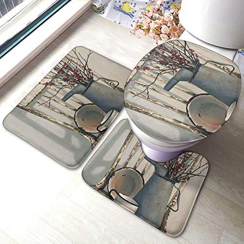 3pcs Tappetino Antiscivolo per Doccia Annaffiatoio sulla Sedia Pad Antivegetativa e Anti-Muffa W40 x L60cm