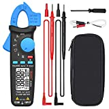 BSIDE DC Amp Clamp Meter 1mA Current True RMS Auto-Ranging 6000 Counts Digital Ammeter Hz Temperature Capacitance Live Check V-Alert Low Impedance Voltage Tester with Back Clip
