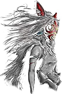 MR3Graphics Magnet Mononoke Wolf Anime Tra Digital Painting Magnetic Car Sticker Decal Bumper Magnet Vinyl 5