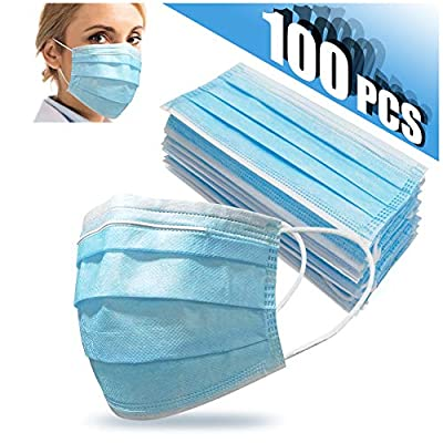 100 PCS Disposable Face Cover 3-Ply Mouth Cover