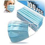 Einweg-Gesichtsmaske Mund-Nase 3-lagige OP 100 Stück