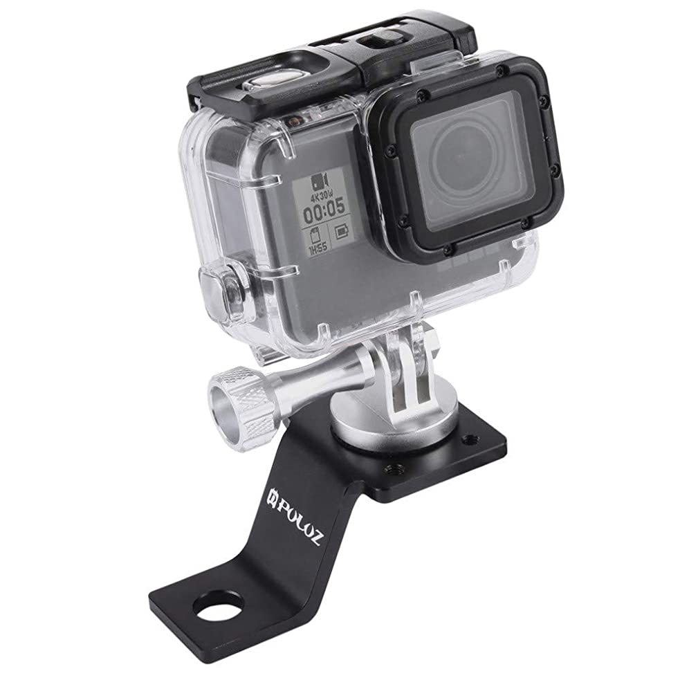 Eoeth DJI Accessories, PULUZ Aluminum Motorcycle Tripod Mount Bracket with Screw for DJI Osmo Action