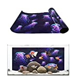 Fantasy Star Aquarium Background Aesthetic Jellyfish Fish Tank Wallpaper Easy to Apply and Remove PVC Sticker Pictures Poster Background Decoration 16.4' x 24.4'
