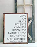 Fruits of the spirit wood sign, Galatians 5:22-23