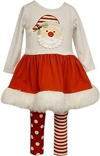 Girls Baby Christmas Santa Pettiskirt and Leggings Set