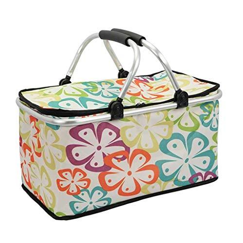 LF- For llevar a cabo plegable portátil Incubadora grande caja de almuerzo al aire libre bolsa de hielo bolsa de picnic portátil del papel de aluminio Preservación Frigorífico Protección del medio amb