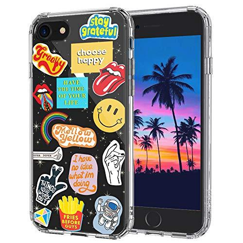 MOSNOVO Cover iPhone SE 2020/iPhone 8/iPhone 7, Cultura Pop Trasparente con Disegni TPU Bumper con Protettiva Custodia per iPhone 7/iPhone 8/iPhone SE 2020 (Pop Culture)