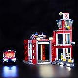LIGHTAILING Conjunto de Luces (City Fire Parque de Bomberos) Modelo de Construcción de Bloques - Kit de luz LED Compatible con Lego 60215 (NO Incluido en el Modelo)
