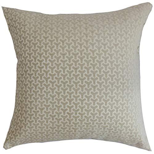 The Pillow Collection Geneen Geometric Bedding Sham Black European//26 x 26,