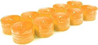 10 original Dänische 8 Stunden Teelichter ohne Duft im Acryl-Cup farbig durchgefärbt sonnen gelb
