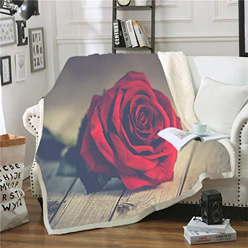 niawmwdt Fluffy Usable Manta con Capucha Red Rose Couverture Polaire Adulte Mantas para Sofa Decorativa Colcha De Cama Casal Manta De Lana Envío De La Gota