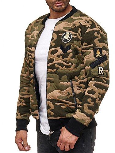 Redbridge Herren Camouflage Jacken U.S Army College Sweatjacke Parka Mantel Bomber Jacke
