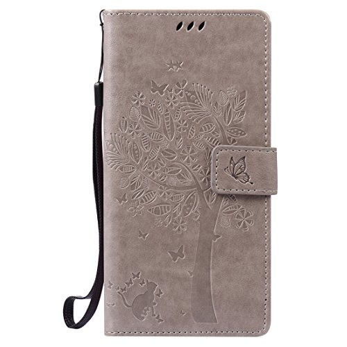 Nancen Compatible avec Sony Xperia XA Ultra   C6 Ultra Coque Haute Qualité PU Cuir Flip Étui Coque de Protection Wallet Portefeuille Case Cover Housse - avec Carte de Crédit Fente