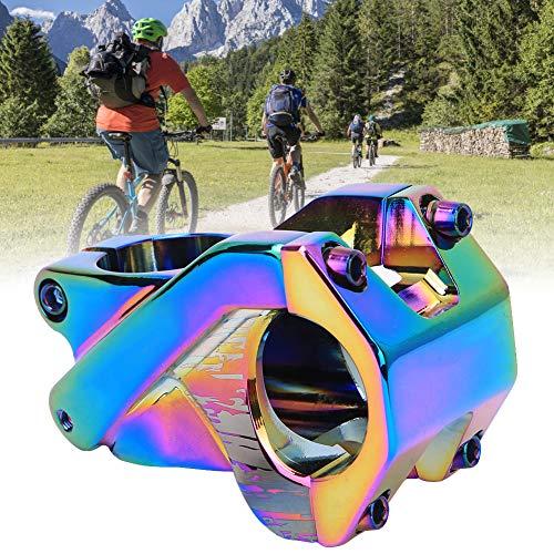 Alomejor Attacco Manubrio Corto Manubrio Forcella Stelo Estensore Strada Mountain Bike Bicicletta(colorato)