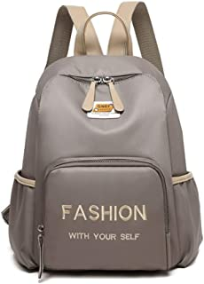 Minimalist Fashion Women's Backpack Travel School Shoulder Bag Daypack (Color : Khaki)