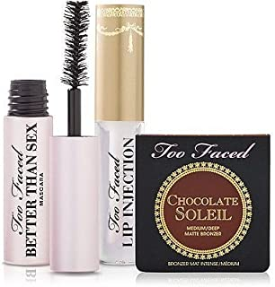 Too Faced Secret Beauty Weapons Set Mascara, Lip Injection Gloss & Chocolate Soleil Bronzer