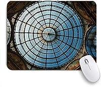 NIESIKKLAマウスパッド ヴィットーリオエマヌエーレ2世のガッレリアのドームイタリアミラノ ゲーミング オフィス最適 高級感 おしゃれ 防水 耐久性が良い 滑り止めゴム底 ゲーミングなど適用 用ノートブックコンピュータマウスマット