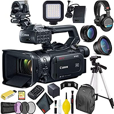 Canon XF405 4K UHD 60P Camcorder with Dual Pixel Autofocus Ultimate Master Bundle from Canon