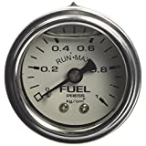Run・Max【 ラン・マックス 】H.Dインライン燃圧計 ( 0~1.0Kg ) 48/37φ WP/BS (日本表示) RGM-010W