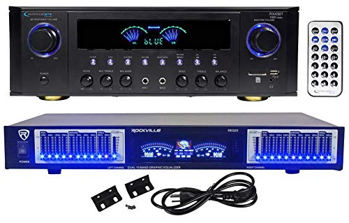 Technical Pro RX45BT Home Theater Receiver, Bluetooth USB/SD+10 Band Eq+Remote