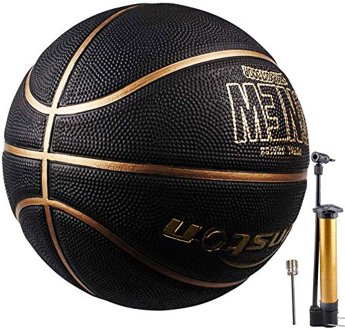 Senston Basketball Outdoor Indoor Rubber Basketball Ball Official Size 7 Street Basketball with Pump